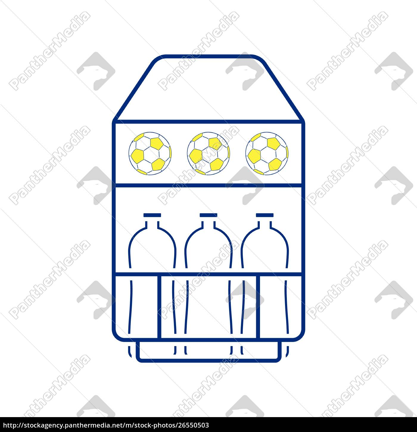 icon, of, football, field, bottle, container - 26550503