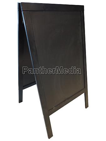 restaurant menu blackboard isolated over white