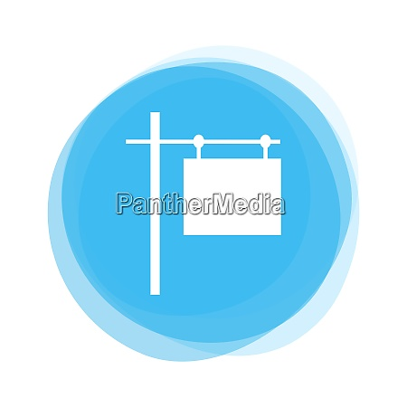 isolated light blue round button real