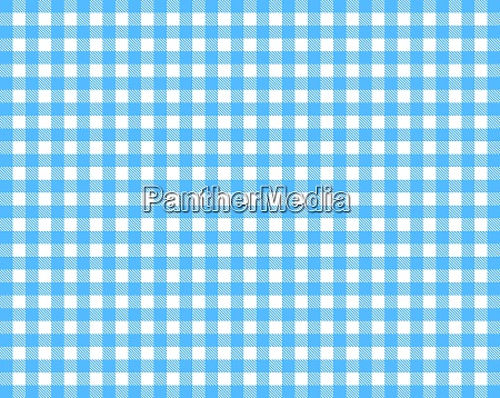 checkered tablecloth background blue and white