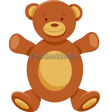 cute teddy bear cartoon character