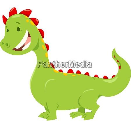fantasy dragon cartoon illustration