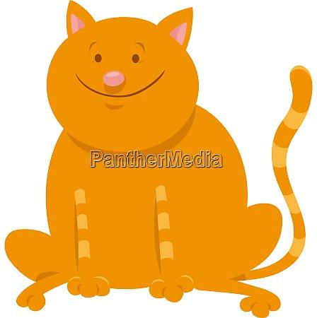 cute yellow cat cartoon animal character