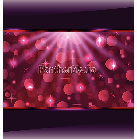 illustration abstract pink card with bokeh
