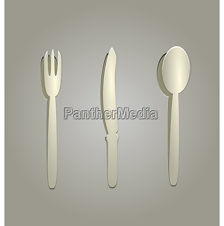 illustration of fork knife and spoon