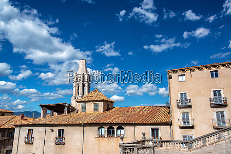 historic architecture in girona spain