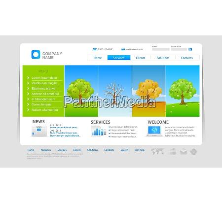 website template four seasons