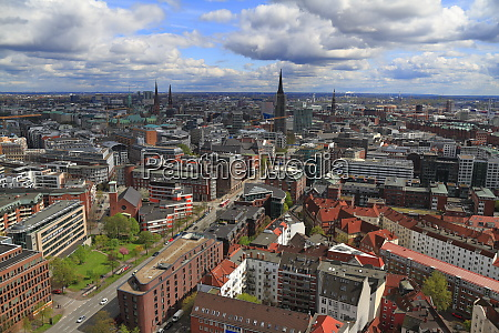 aerial view of hamburg