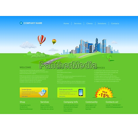 website editable template business city on