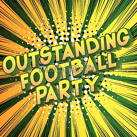 outstanding football party comic book