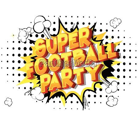 super football party comic book
