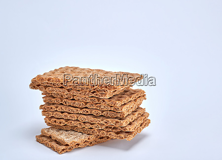 a stack of rectangular snack bars