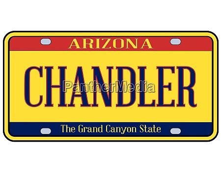 arizona chandler state license plate
