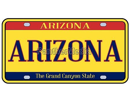 arizona spoof state license plate