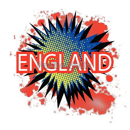england red white and blue cartoon