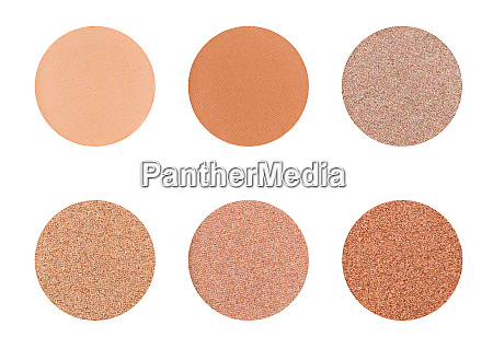 eyeshadow palette on a white background