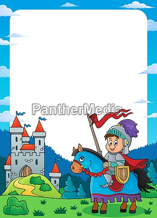knight on horse theme frame 1