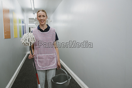 portrait of a female cleaner