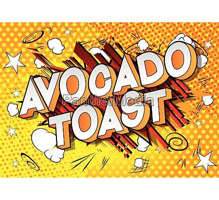 avocado toast comic book style