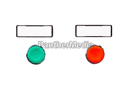 simple blank buttons green choice beside