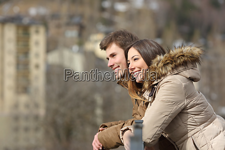 couple sightseeing outdoors in the street