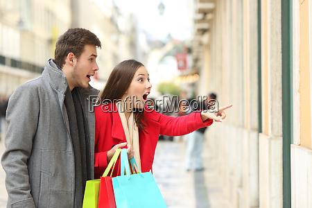 amazed shoppers finding sales in a