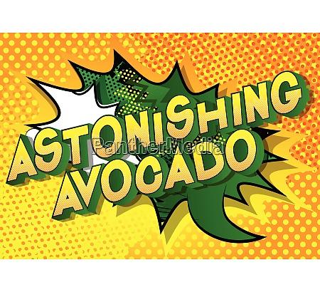 astonishing avocado comic book style