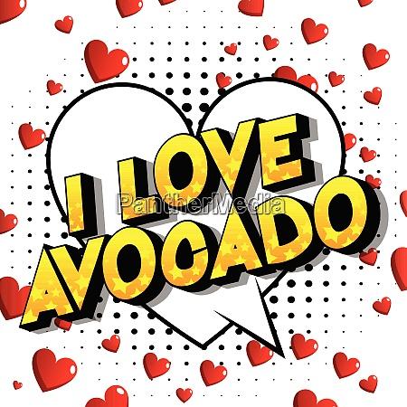 i love avocado comic book