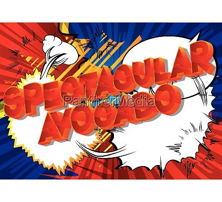 spectacular avocado comic book style