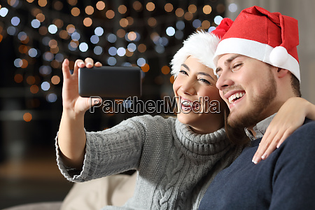 couple having a video call on