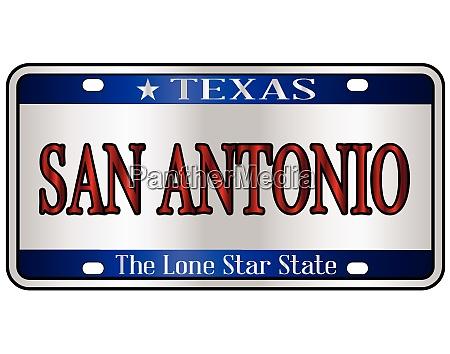san antonio texas license plate