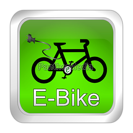green e bike button 3d