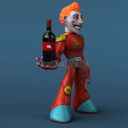 red, robot, -, 3d, illustration - 26582734