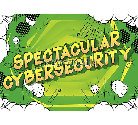 spectacular cybersecurity comic book style