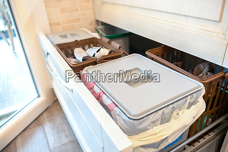 waste sorting drawer recycling kitchen home