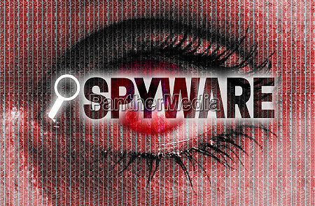 spyware eye looks at viewer concept