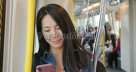 woman use of mobile phone on