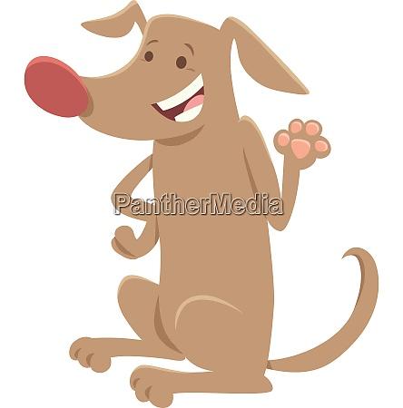 brown dog comic animal character