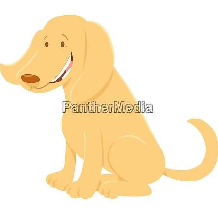 happy, beige, dog, cartoon, animal, character - 26587152