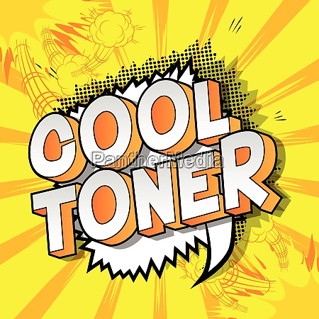 cool toner comic book style