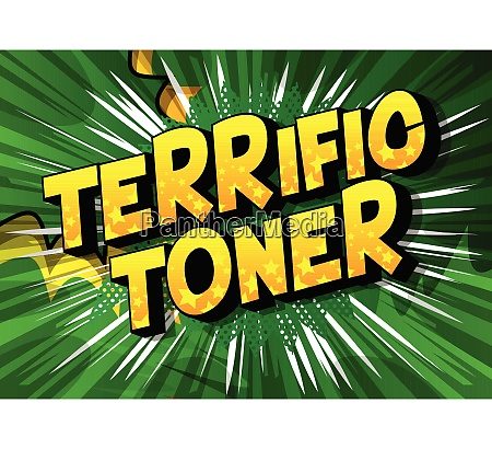 terrific toner comic book style