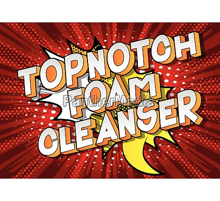 topnotch foam cleanser comic book