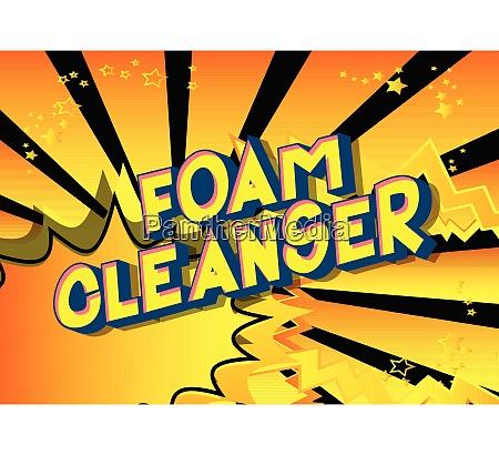 foam cleanser comic book style
