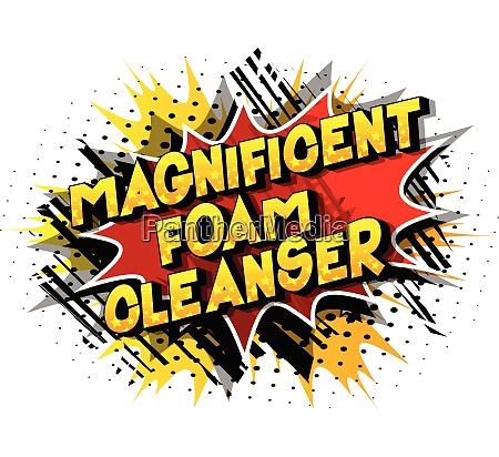 magnificent foam cleanser comic book