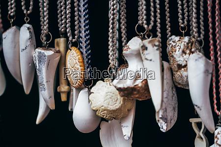 handmade meerschaum necklaces in various shapes