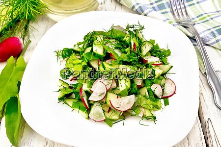 salad of radish and sorrel with