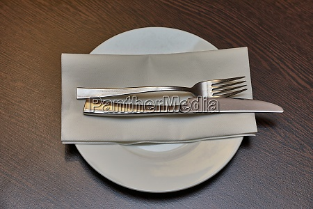 cutlery on a teble
