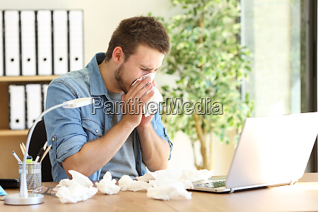 entrepreneur blowing with a wipe at