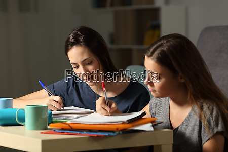 studious students studying hard in the