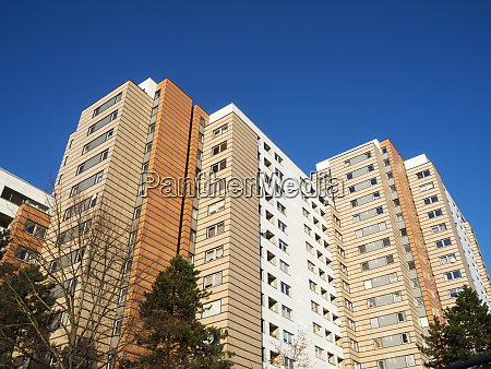 yellow highrise in the north of